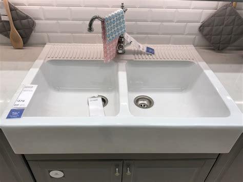 domsj 214 double bowl apron front sink ikea ikea apron front sink single bowl sinks farm style
