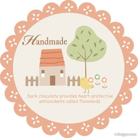 Handmade By Me Labels - 4 designer handmade label stickers vector