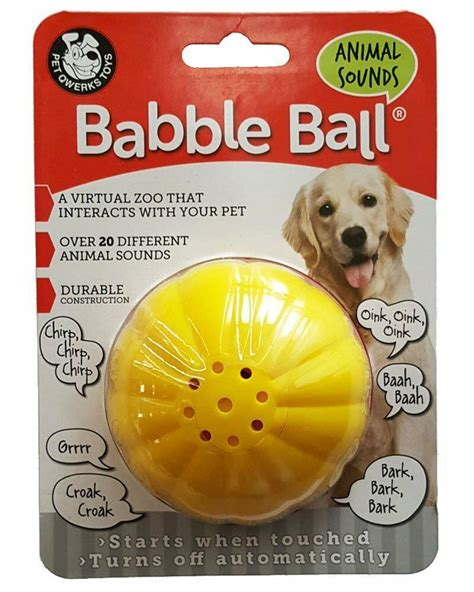 pet qwerks animal sounds babble ball dog toy ebay