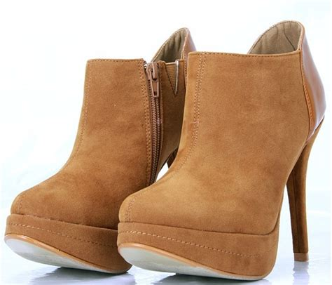 comfortable high heel shoes for nubuck camel