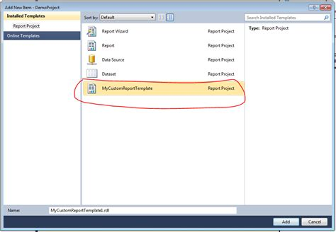 create custom template create custom template in ssrs