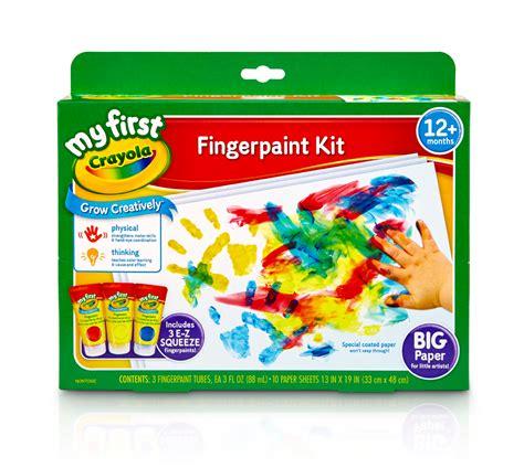 crayola painting crayola my crayola fingerpaint kit 3