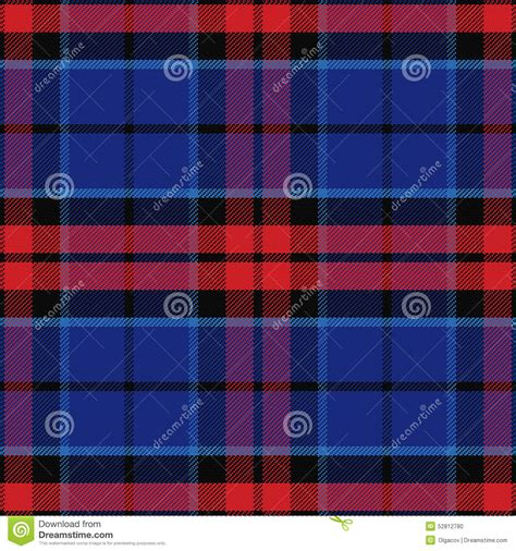 scottish tartan seamless pattern blue and red vector vector seamless red and blue scottish tartan stock vector