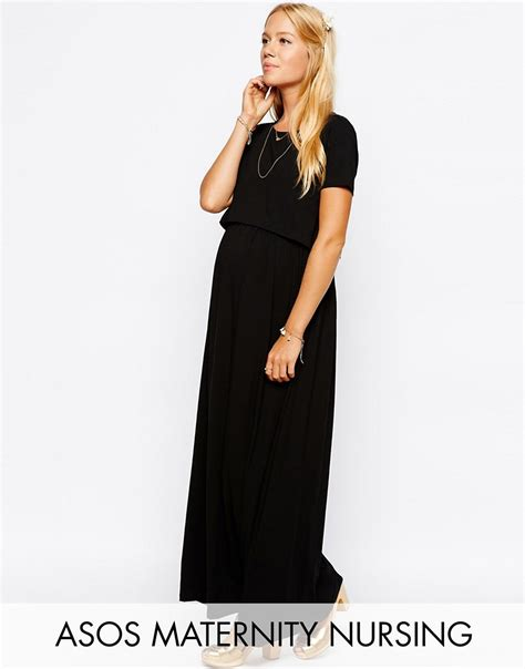 asos maternity asos maternity nursing maxi dress at asos