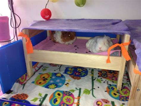 best guinea pig bedding fleece fabric tied to the top of the doll bed ikea like