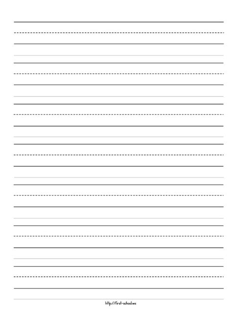 printable writing paper kindergarten handwriting worksheet for kindergarten blank handwriting