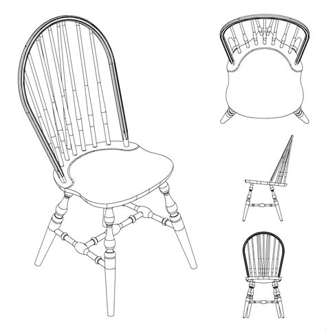 chair side view drawing dining table july 2014