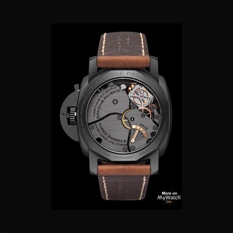 Luminor Panerai Turbilon Angka Black 1 panerai luminor 1950 tourbillon gmt ceramica luminor 1950 pam00396 black ceramic