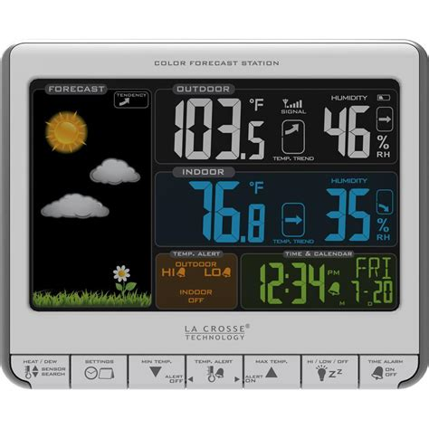 la crosse technology color lcd wireless weather station