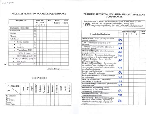 sle kindergarten report card template sle school report card 28 images sle report card