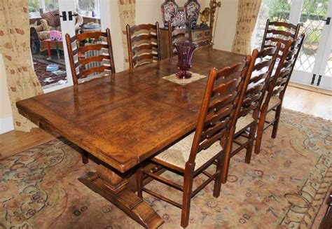 country ladder back dining chairs country refectory table and ladderback chair dining set