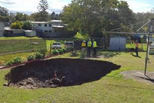 sinkhole in backyard ipswich sinkhole queensland government to cover repair bill for couple abc news