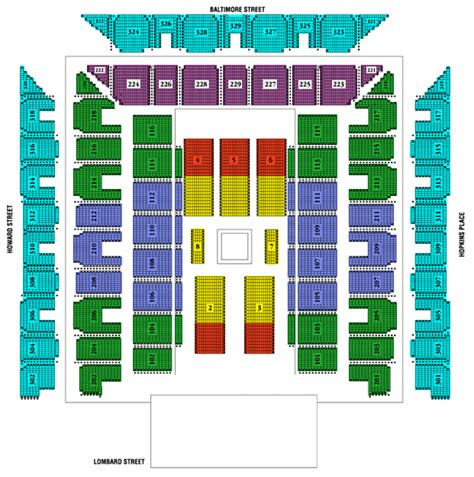 baltimore arena seating chart disney on tickets may 17 2015 at 7 30 pm royal farms arena