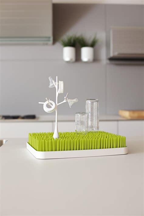 Boon Grass Countertop Bottle Drying Rack by View Larger