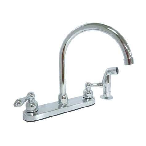 2 handle standard kitchen faucet in chrome hs8181210cp dominion 2 handle standard kitchen faucet with side
