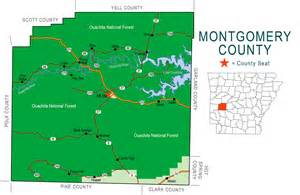 map montgomery county montgomery county map encyclopedia of arkansas