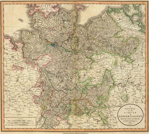 Saxony Germany Birth Records Germany Circle Of Lower Saxony 1801 Cary Historic Map Reprint