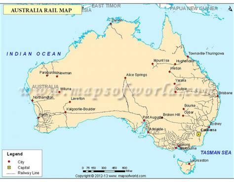 buy australia rail map