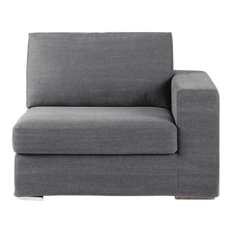 sofa rechts sofa armlehne rechts aus baumwolle grau anvers maisons