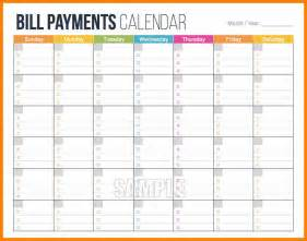 8 bill payment calendar monthly budget forms