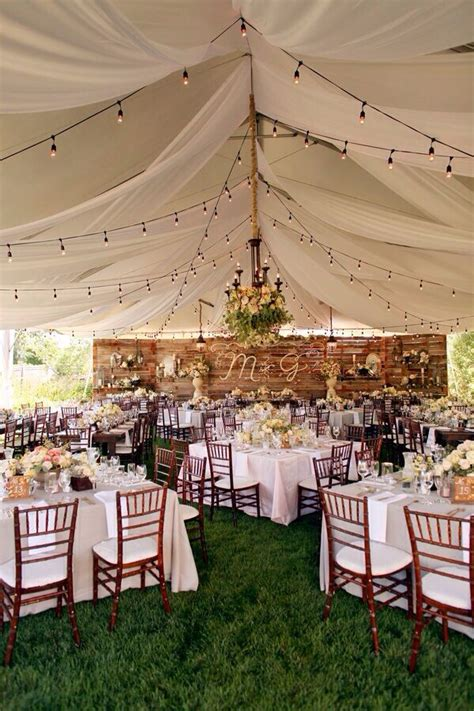 backyard wedding tent outdoor wedding reception ideas 15 dipped in lace