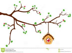 Tree And Owl Wall Stickers tree branch with hut style bird house stock image image