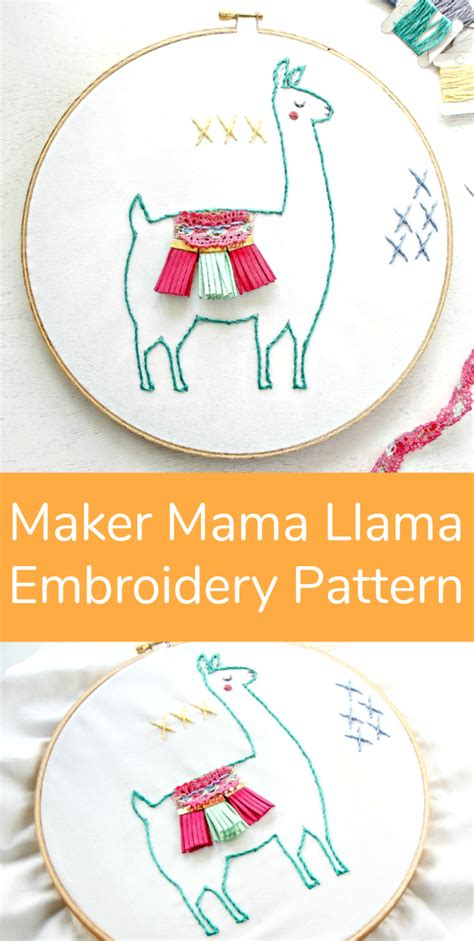 pattern maker machine embroidery maker mama llama embroidery pattern make and takes