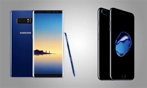 what s better iphone or galaxy galaxy note 8 vs iphone 7 plus speed test which is