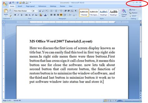 layout options word 2007 institute9 ms office word 2007 layout button tutorial