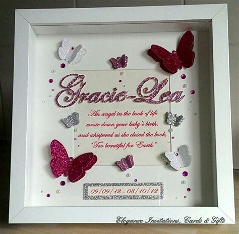 butterfly memory frame  poem  hand drawn