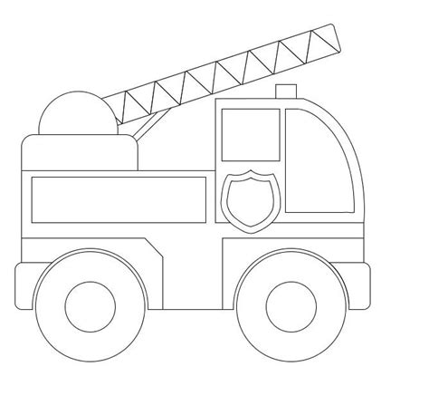 truck template truck simple coloring pages