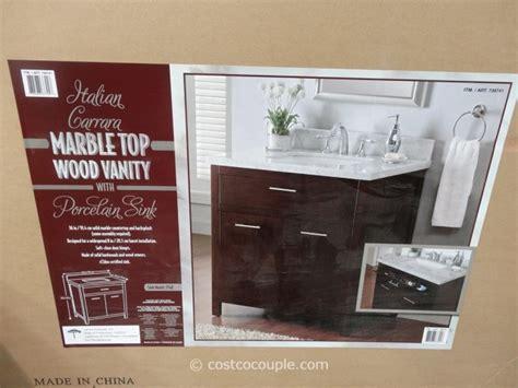 lanza bathroom vanities costco lanza products 36 inch italian carrara marble top wood vanity