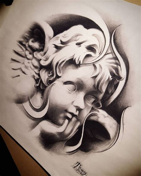cherub angel tattoos designs best 25 cherub ideas on
