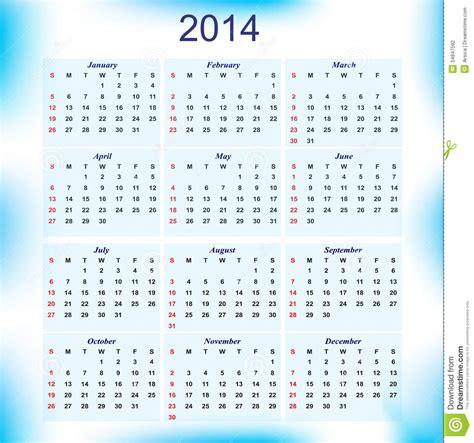 Calendario Meses New Year 2014 Calendar For All Months Stock Photography