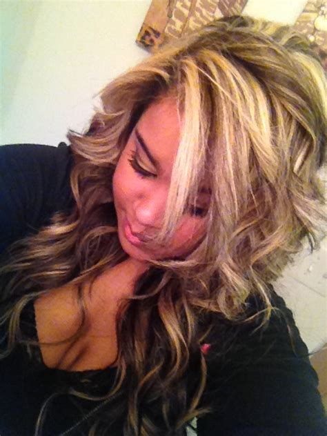 dramatic hair color highlights pictures my dramatic blonde highlights on brunette hair done by