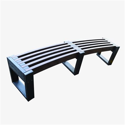 plastic benches windsor curved recycled plastic bench manticore lumber