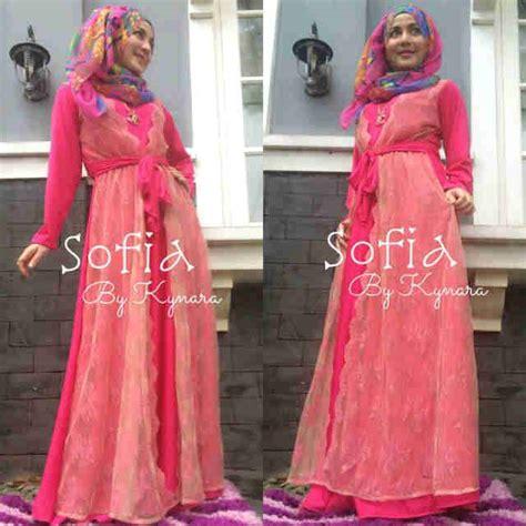 Pusat Gamis Syari Annisa Fanta Harga Baju Gamis sofia by kynara fanta baju muslim gamis modern