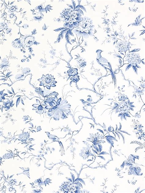 blue pattern crockery sanderson wallpaper pillemont dpempi101 china blue
