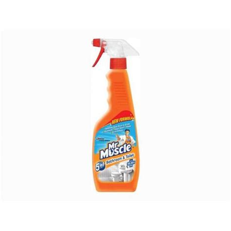 mr muscle toilet and bathroom cleaner mr muscle 500ml 5 in 1 bathroom and toilet cleaner