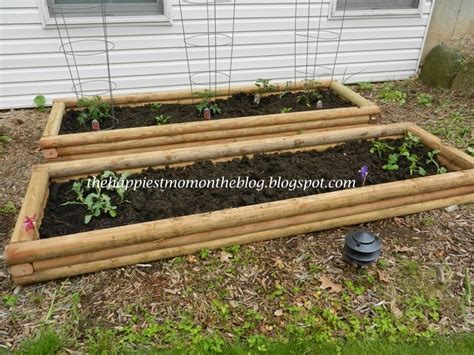 Secure Landscape Timbers Ground Diy Raised Garden Boxes These Planters Are Easy To Make