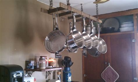 hanging pots and pans from ceiling hanging pots and pans organization kitchen