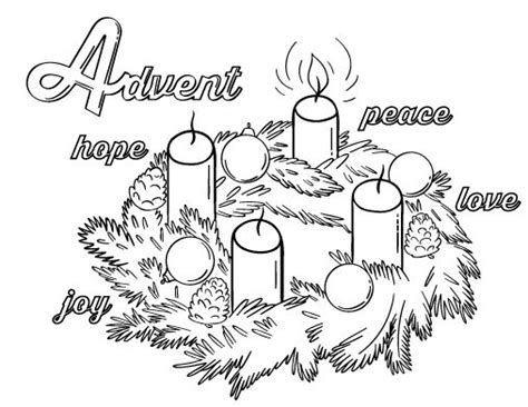 advent wreath candles coloring page printable advent coloring page free pdf download at http