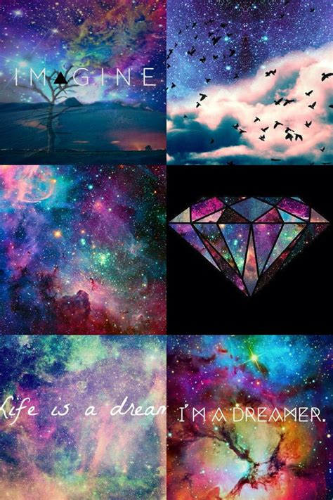 galaxy wallpaper tumblr quotes iphone galaxy tumblr collage iphone wallpaper pinterest