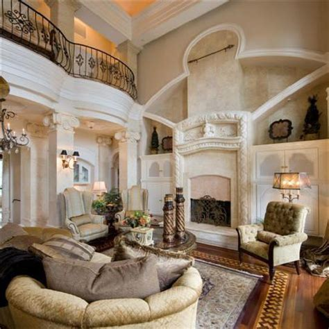 beautiful living room interior classical double story