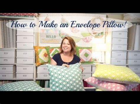 how to make an envelope pillow how to make an envelope pillow