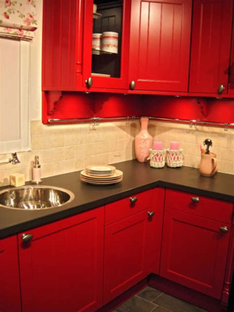 red painted kitchen cabinets small kitchens with big ideas design bookmark 8987