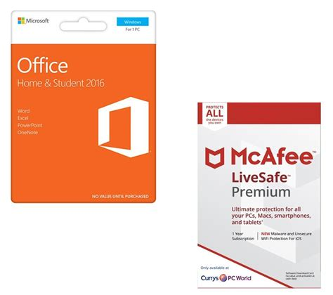 buy mcafee office home student livesafe premium bundle