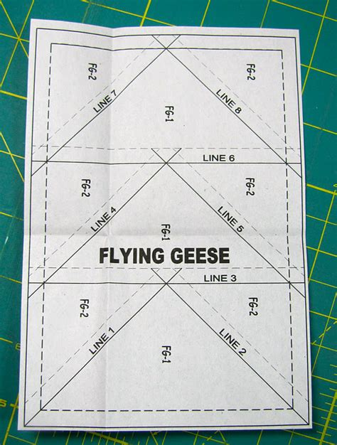 flying geese template paper piecing tutorial