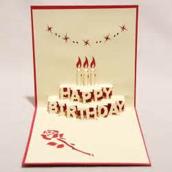 3d quot happy birthday quot handmade creative kirigami origami pop up greeting gift card set of 10