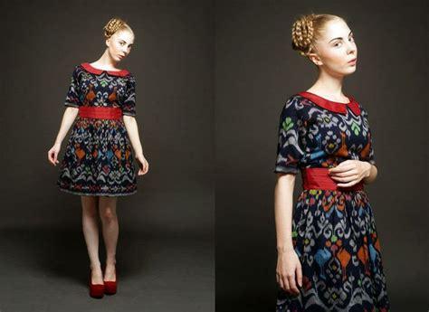 desain dress tenun tenun indonesia ivory byovi things to wear pinterest